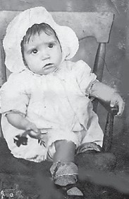 """OMA (HOWARD) HATTON is 13 months old in this photo made 79 years ago. She says, """"I've changed some, but that happens. Somewhere inside me, that's still me."""""""