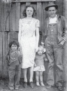 Joe Halcomb and his wife Verna are pictured with their daughter Ailene and Thula Ison (left).