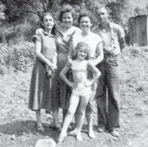 Pictured are Vera 'Bug' Cassell, Gert Whitaker Boyd, Thula Ison, Pet Fields, and Ann Bowen.