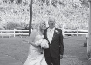 MAYOR WEDS — Whitesburg Mayor James W. Craft and Tiff any King Craft were married inside a large white canopy tent at River Park in Whitesburg on Aug. 28.