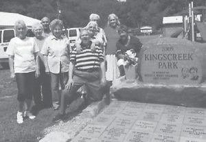 AT THE PARK — Pictured are a few of the Ermine seniors who attended a picnic recently at the Kingscreek Park.