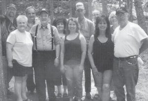 BANKS REUNION — The Banks family reunion was held August 14 at Kingdom Come State Park. Pictured are (front row, left to right) Sharon Banks, Payne Gap; Delzie Banks, Whitesburg; Diana Dixon, Corbin; Debbie Dixon, Corbin; Lowell Dixon, Corbin; (back row) Eddie Banks, Cumberland; Tim Banks, Cowan; Elmer Kelly, Lynch; Juston Banks, Cumberland; and Belynda Banks, Cumberland.