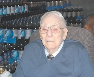 Bradley Bentley, owner of the Royal Crown Cola Bottling Company, celebrated his 95th birthday with a party on Sept. 11 at the Whitesburg plant.