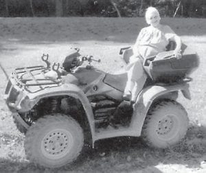 JULY BIRTHDAY — Millstone resident Edith Baker turned 85 years old on July 12. She enjoyed a day out with her children, grandchildren, and great-grandchildren. Her family says she is still doing things she always wanted to do, and riding a four-wheeler was among them. She is the widow of James Baker and has 14 children.