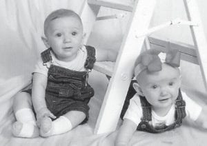 SIX MONTHS OLD — Ace Brian and Harley Elizabeth Maggard turned six months old August 16. Their parents are Seth and Nikki Maggard. They are the grandchildren of Jr. and Sherry Whitaker, Roger and Gayle Maggard, and Paula Belcher. They are the great-grandchildren of Bernie and Sybilla Johnson, Nannie L. Pease, Bill and Betty Belcher, and Violet Mullins.
