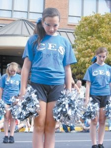 DANCERS DANCED — Among those performing during Saturday's parade were the girls who make up the Cowan Elementary School dance team including (not in order) Hayley Collins, Hailey Stamper, Mckinzie Hall, and Ally Hobson. (Photo by Ryan Adams)
