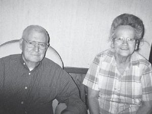 ANNIVERSARY — Bluford and Pricey Sizemore Elswick celebrated their 57th wedding anniversary on Oct. 2. He is a retired coal miner, and the couple have seven children, Bud Elswick, Betty Taylor, and Becky Lebresh, all of Camp Branch; Jeanette Sexton, Little Colley; Barbara Adams, Ermine; and Randy Elswick and Ceclia Breeding, both of Sandlick.