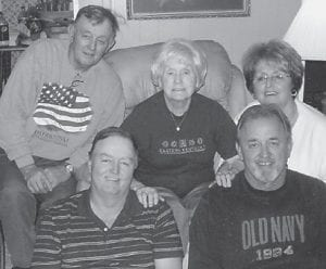 FAMILY PORTRAIT — Pictured are Avis Boggs and her children, Alan Boggs, Sharon Hale, Larry Boggs, and Gregory Boggs.