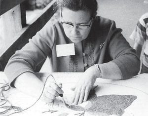The late Josephine Whitaker, of Blackey, spent about 15 years making hand-hooked rugs with the Hound Dog Hookers.