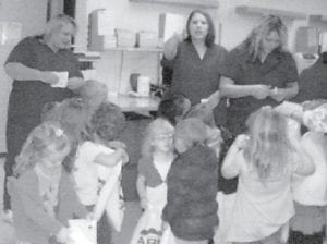 FIELD TRIP — Cowan Headstart recently visited Whitesburg Appalachian Regional Hospital where they learned about doctors and nurses. Staff members gave the children treats. Headstart will take field trips later this month to the Kingscreek Fire Department and the Letcher County Sheriff 's Department.