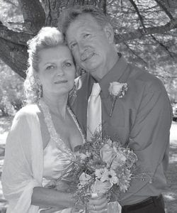 WED — Richard Stewart and Arlene Mullins were married Sept. 18 at Fishpond Lake. Freddy Johnson officiated the wedding.
