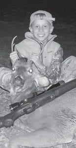 YOUTH HUNTER — Nineyear old Matthew Dicks killed his second deer recently during youth weekend. Matthew is the son of Steve and Valerie Dicks of Kingdom Come Creek. He was hunting with his father and grandfather, Alan Dicks.