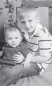 BIRTHDAYS — Ethan Skyler Willis Tolliver celebrated his eighth birthday on Oct. 24. He is pictured with his brother Jaxton Blayde Tolliver, who turned one year old in July. They are the sons of Willis Jr. and Renay Tolliver of Deane. Their grandparents are Willis and Moraine Tolliver and James and Darlene Mobley, all of Deane.