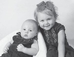 MAY BABY — Damon Howard was born May 26. He is the son of Caleb and Erica Howard. He is pictured with his sister, Brooklyn Howard, 2.
