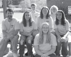 DRUG FREE — Students at Beckham Bates Elementary School are participating in a program celebrating freedom from drugs. The program's slogan is 'Drugs are not the way, be a hero and stay away.' Pictured are Rick Warf, Brooke Niece, Katie McCall, Michele Robinson, Brandi Niece, Dalton Wilson, and Lisa Elkins.