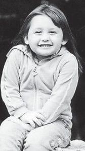 THREE YEARS OLD — Teeara Caudill celebrated her third birthday on Oct. 16. She is the daughter of Burtis and Tonya Caudill of Pine Creek.