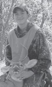 DEER HUNTER — Dustyn Reinstetle, 13, killed a sixpoint buck while hunting with his father during Youth Weekend. An eighth-grade student at Whitesburg Middle School, he is the son of John Reinstetle and Paula Tolliver, both of Whitesburg.