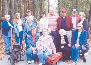 ROAD TRIP — Pictured are some of the seniors from the Ermine Center who recently visited Breaks Interstate Park.