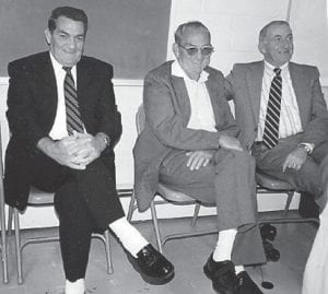 Howards — Pictured are Leonard and Kern Howard with Hubert Howard, their double first cousin, at the wedding of Tabatha Hatton a few years back.