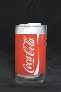This photo shows a drinking glass decorated with a Coca-Cola logo purchased from the online Coca-Cola store. Wipe testing at Toy- TestingLab, in Warwick, R.I., commissioned by The Associated Press, showed this glass shed three times more cadmium from its red exterior than the amount of cadmium from any design in sets of Shrek glasses that McDonald's recalled in June. (AP Photo)