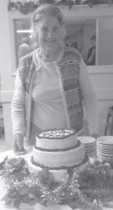 SURPRISE! —Whitesburg correspondent Oma Hatton was the guest of honor at a surprise 80th birthday party given Saturday night by family and friends at Parkway Restaurant. More than 60 people attended the gathering, and she received more than 50 cards. Mrs. Hatton said it was the happiest day of her life.