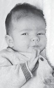 SEPTEMBER BABY — Colbie Joshua Bailey was born Sept. 22 to Josh and April Bailey of Isom. He is the grandson of Vernon Bailey of Isom and the late Linda Breeding, and Kathy Honeycutt of Colson and the late Clyde Hensley of Jackhorn. He is the greatgrandson of Marie Niece of Colson.