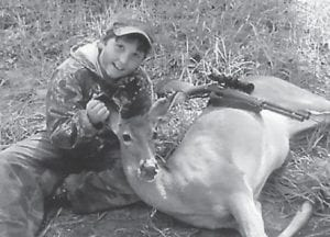 FIRST DEER — Eleven-year-old Jonothan Traynham killed his first deer while hunting with his grandfather Tommy Yonts. He is the grandson of Tommy and Debbie Yonts of Abbeville, S.C., former longtime residents of Letcher County, and Ann Stewart, Greenwood, S.C. His parents are Ken and Crystal Yonts Traynham of Greenwood, S.C. He is the nephew of Benjie and Danna Smith of Jeremiah.