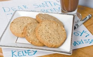 Pecan-cinnamon wafers are classic, crispy cookies made with 100 percent whole-wheat pastry flour and are laced with healthy, monounsaturated fat-rich pecans. (AP Photo/Larry Crowe)