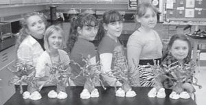 GIRL SCOUT BROWNIE TROOP 1314 enjoyed making trees and ghosts for Halloween and are looking forward to another great year in Brownies. Pictured are (left to right) Makaya Rose, Luna Combs, Amy Stamper, Amanda Stamper, Madison Pennepacker, and Cammy Elswick.