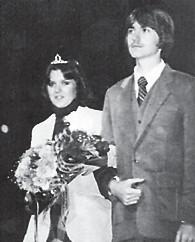 Teresa Davis escorted by Greg Hogg Homecoming Queen 1980-81