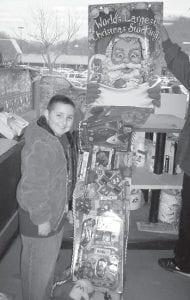 WINNER — Hunter Hampton was the winner of a large Christmas Stocking at Food World of Whitesburg.