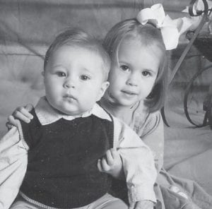 SISTER AND BROTHER — Anna and Eli Hatton are the children of Julie and Jamie Hatton.