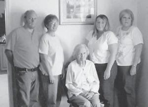 FORMER MARLOWE RESIDENT Hazel Easterling Ramsey Stanley, 78, died April 29 in Wise, Va. She is buried in Powell Valley Memorial Gardens at Big Stone Gap, Va. She is pictured with her children Charlie, Joyce Ann, Sheila, and Yvonne. She had been Whitesburg correspondent Oma Hatton's best friend since third grade.