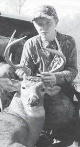 — Fourteenyear old Dalton Fields killed an 11-point buck, his first, at Tolby Branch at Linefork on Nov. 13. He is the son of Annette Dinsmore of Smoot Creek and James Fields of Linefork and is a freshman at Letcher County Central High School.