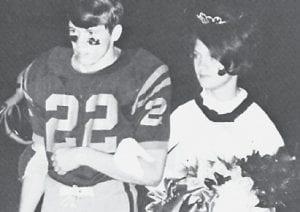 1970-71 Homecoming Queen Judy Frazier and escort Eddie Fields.