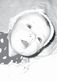 SOPHIA LEEANN ADAMS turned five months old on Jan. 18. She is the daughter of Sheblena and Derrick Adams. Her grandparents are Debra Seals, and Chris and Diane Sexton. She is the great-granddaughter of Dennis and Shelby Seals and L.C. and Joyce Adams.