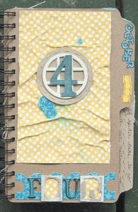 """This mini album created by Jamie Long of Ermine is one of two mini albums she made which will be printed in the """"Scrapbook Trends"""" Mini Album Idea Book in June."""