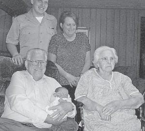 — Rose Wagner of Mayking, who turned 91 years old on Jan. 20, is pictured with her son, Robert Wagner of Whitesburg; his daughter, Shawn Finn of Mayking; her son, Aaron Finn of Virginia Beach, Va.; and his son, Aiden Finn.