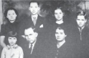 ADAMS FAMILY — Pictured are (top, left to right) Iva Adams Collier, Steve Adams, Doris Adams Webb, Dr. Bill Adams, (front) Ruby June Adams Caudill, G. Bennett Adams and Ella Combs Adams.