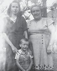 Pictured are the late Lettie Miller, Bonnie Hampton, David Miller.