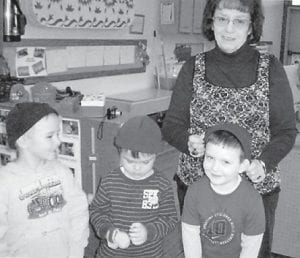 """Shirley B. Sexton recently gave toboggans and gloves to students at Mayking Head Start. Head Start staff members expressed appreciation and said Sexton """"is a very caring person to our community."""""""