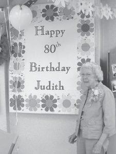 Judith Vermillion recently celebrated her 80th birthday at the Ermine Senior Citizens Center.