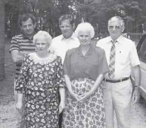 Pictured are Marshel Tacket, Hubert Tacket, Edd Tacket, Ester Tacket Wagner, and Yvonne Tacket Hall.
