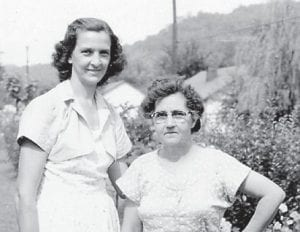 — Pictured are the late Juanita Hatton and Peggy Tacket, neighbors at Marlowe.