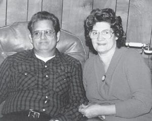 and her husband, the late Marshel Tacket, are pictured on Christmas 1990.