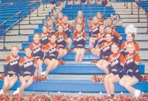 The Martha Jane Potter Elementary cheerleaders are the champions of the Letcher County Elementary Athletic Association. The team is coached by Tara Boggs. Pictured are Anna Morris, Belle Wright, Autumn Wright, Amber Bolling, Faith Caudill, Cameron Kincer, Holly Baker, Katanna Fugate, Grayson Collier, Rachel Lucas, Makaley Johnson, Kristiana Ballou, Kiley Short, Emily Johnson, Brittany Wright, Kiah Mullins, Taylor Collier, Linsey Tyree, Haleigh Belcher, Amanda Nichols, and Chantal Gibson.