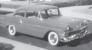 THIS '56 CHEVY BEL AIR belonging to Everett Vanover is in 'mint' condition.