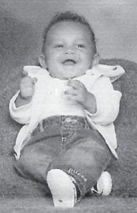 """Deandre Terrell Jefferson III will turn one year old on March 26. He is the son of Erica Demery, grandson of Pamela Fields Creech of Arkansas, great-grandson of Archie and Margaret Fields of Cowan and Lucille Collins of Greensburg, Ind.; and greatgreat nephew of Christine and James Fields and Kathy and Eddie Wolfe. He has an older brother, Courtland Gales, and will have a baby sister on June 4. Big Cowan correspondent Christine Fields says, """"We all love you! Have a fun birthday."""""""