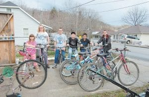 Mick Polly, of 48 5th Street, Whitesburg, has provided refurbished or new bicycles to 16 children. As he gets more donations he refurbishes more bicycles to be given to children who could use a bike. The children pictured above enjoy riding their bikes Polly gave them. Pictured from left are Madison Ackerman, Brea Franks, Brandon Martz, Kealan Lucas, Vincent Fleming and Clayton Martz. (Photos by Sally Barto)