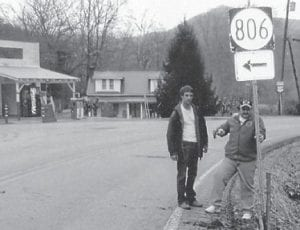 replaced the Hwy. 806 road sign, which had been down for some time near the J.D. Maggard Store at Cumberland River. The store, which is listed as a historical site as the oldest store in Kentucky, was recently visited from a group from Canada which then wrote expressing their appreciation.